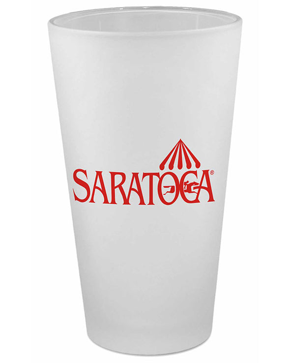 Saratoga Logo Frosted Pint Glass
