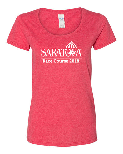 2018 Saratoga Women's Event Logo Scoop Neck Tee