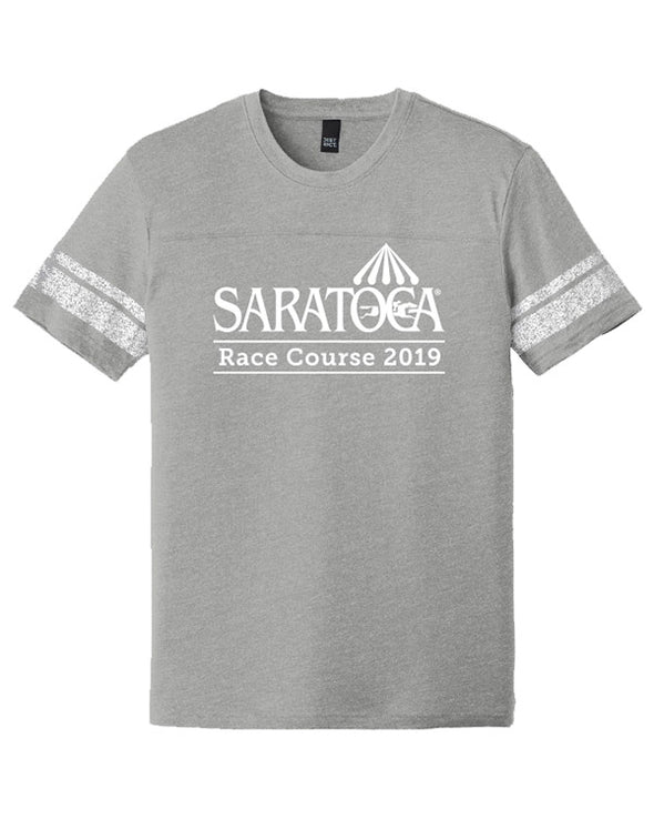 2019 Saratoga District Game T-Shirt Heathered Nickel/White