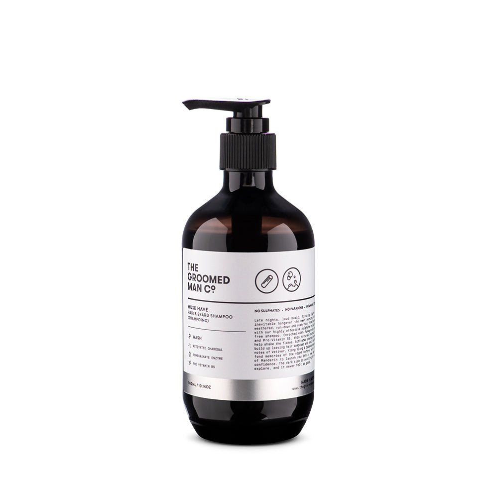 THE GROOMED MAN CO - Musk Have Hair & Beard Shampoo 300ml