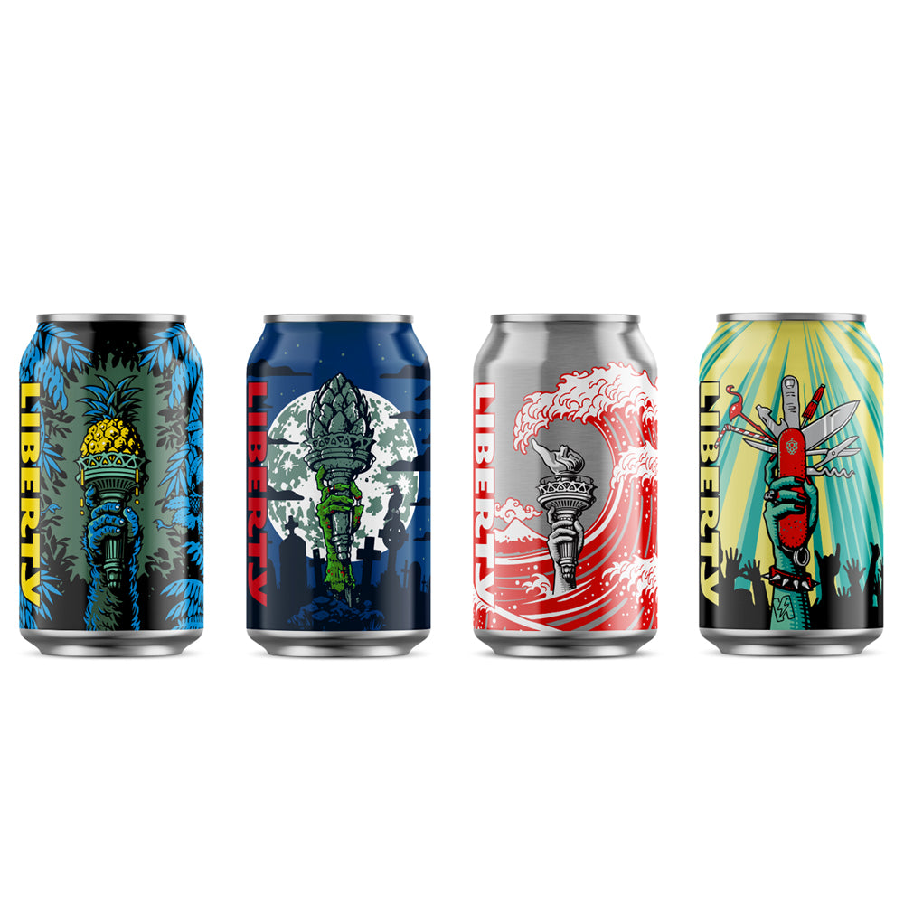 Liberty - Mixed Pack Cans - 24 x 330ml Cans