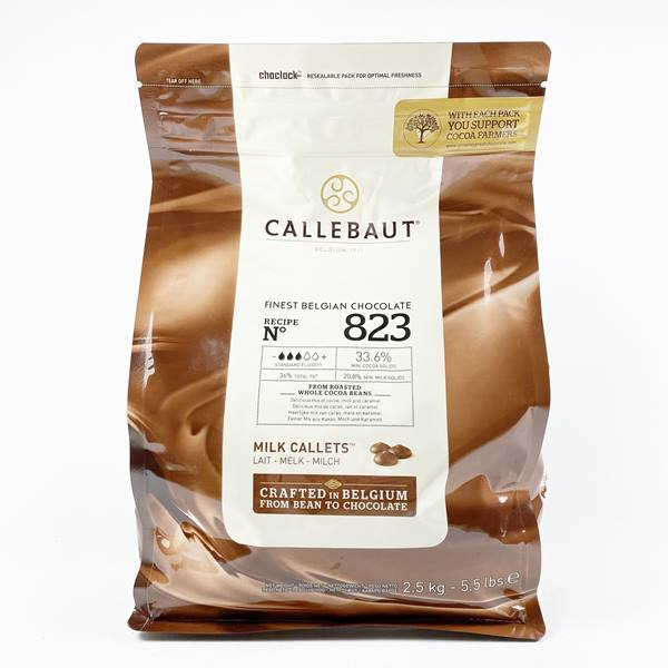 CALLEBAUT 33.6%  MILK CALLETS 823 2.5KG - DeGusta Grocery Home Delivery