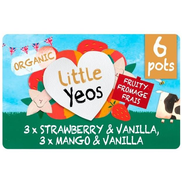 LITTLE YEO STRAW/VAN, MANGO & VANILLA YOGURT 6x45g - DeGusta Grocery Home Delivery