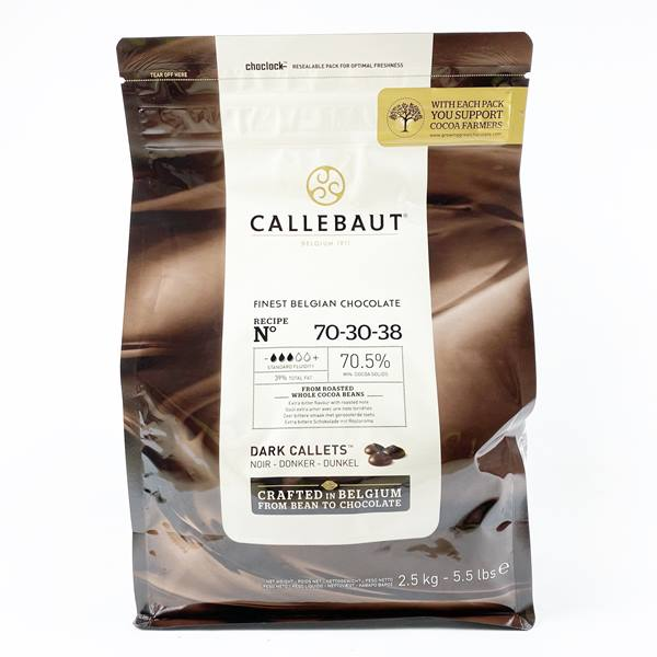 CALLEBAUT 70.50%  DARK CALLETS 2.5KG - DeGusta Grocery Home Delivery