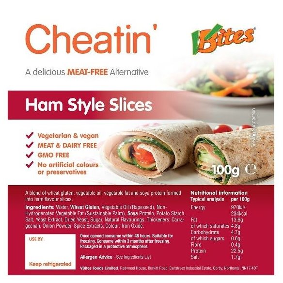 HAM STYLE SLICES MEAT-FREE 100GR - DeGusta Grocery Home Delivery