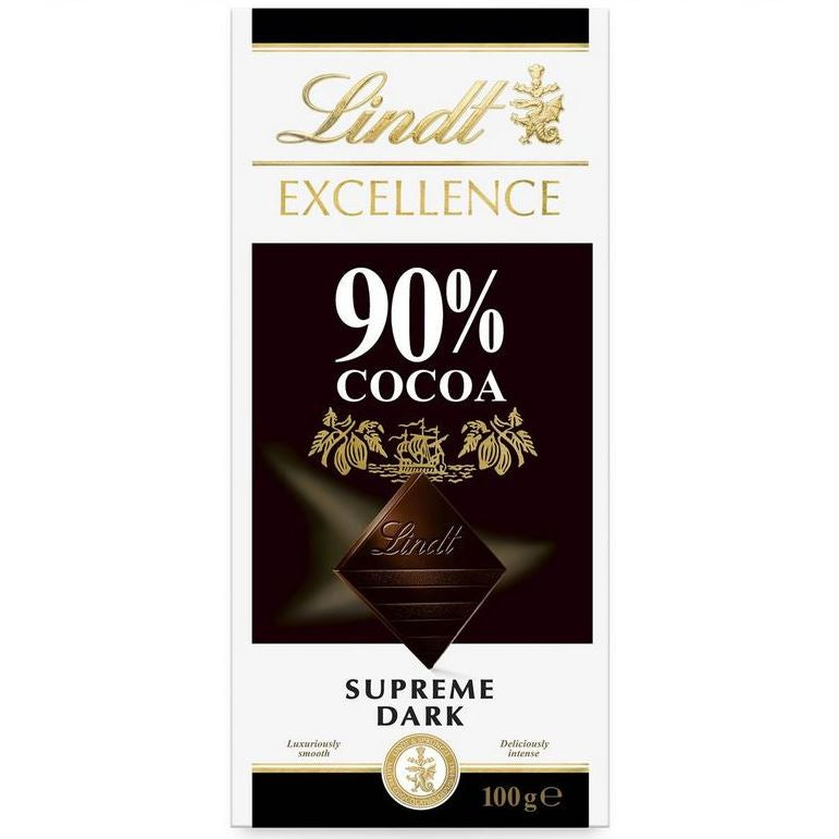90% DARK CHOCOLATE LINDT 100g - DeGusta Grocery Home Delivery