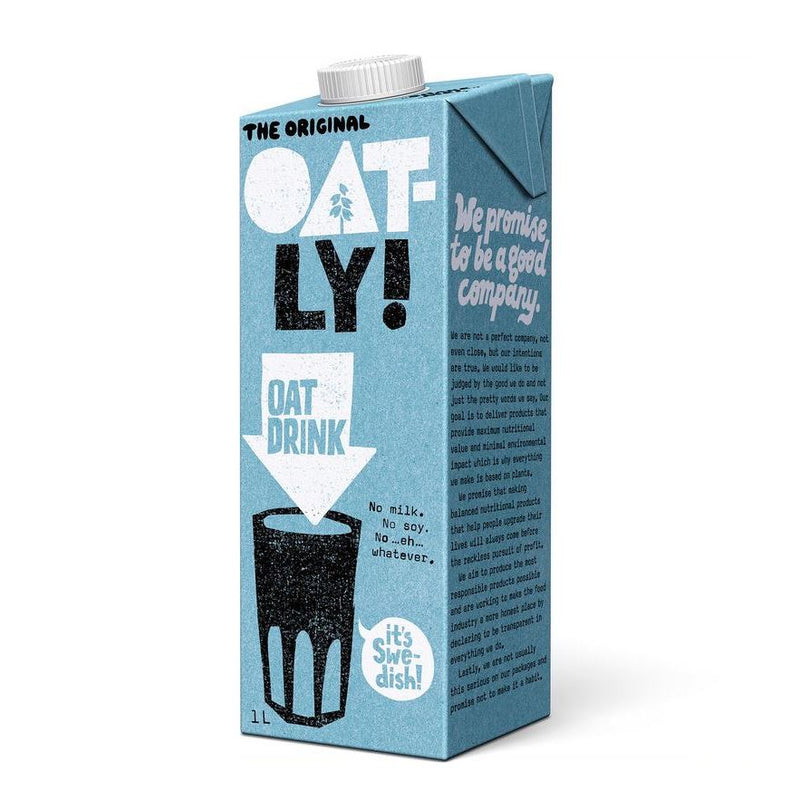 OAT MILK OATLY ENRICHED 1L - DeGusta Grocery Home Delivery