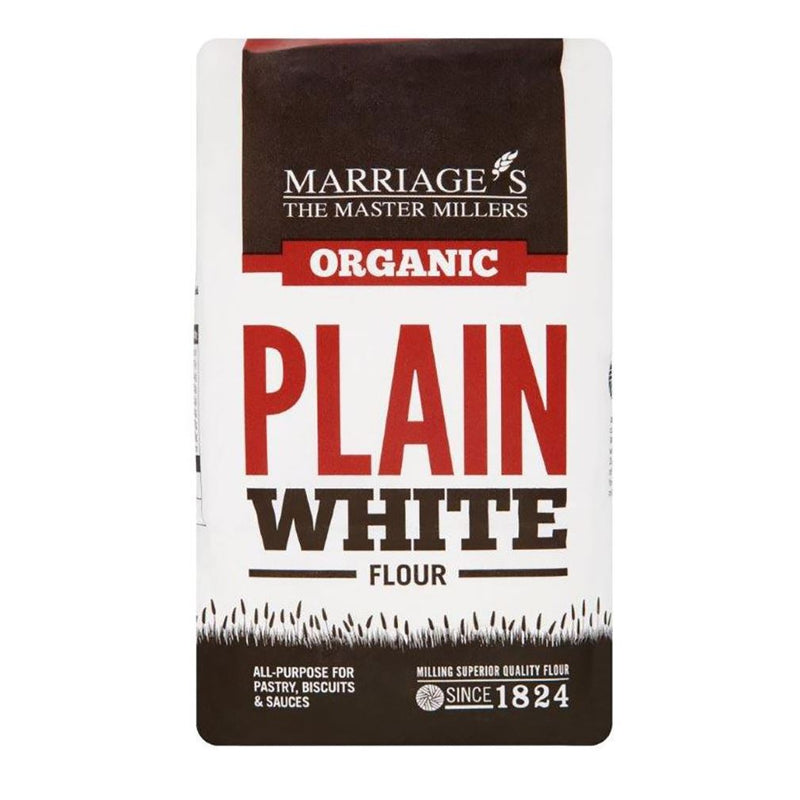 PLAIN ORGANIC WHITE FLOUR (MARRIAGE) 1KG - DeGusta Grocery Home Delivery