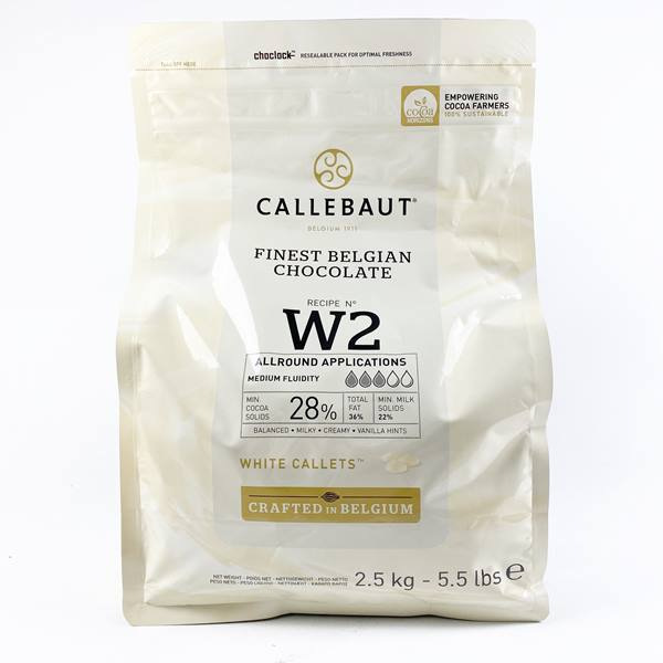 CALLEBAUT 28% WHITE CALLETS 2.5KG - DeGusta Grocery Home Delivery