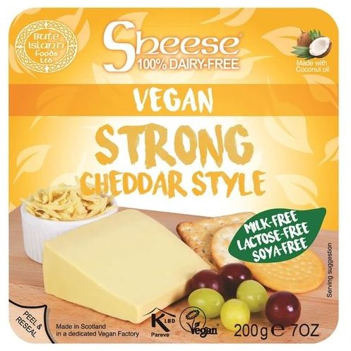 VEGAN MILD CHEDDAR STYLE SLICES 200GR - DeGusta Grocery Home Delivery