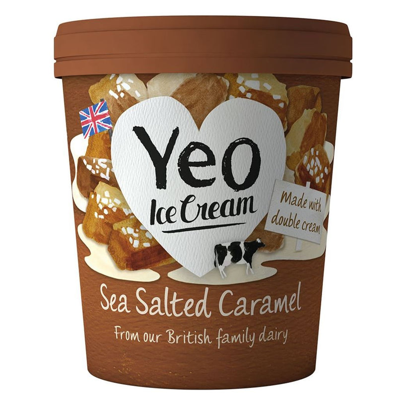YEO VALLEY ORGANIC SALTED CARAMEL ICE CREAM 500ml - DeGusta Grocery Home Delivery