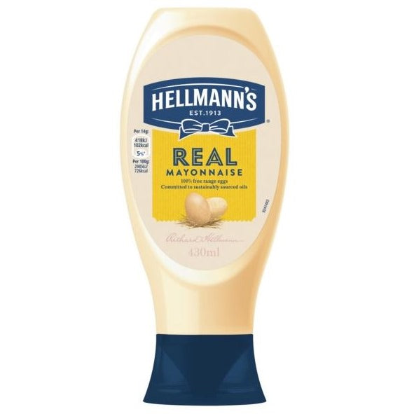 HELLMANNS SQUEEZY MAYO 430ML - DeGusta Grocery Home Delivery