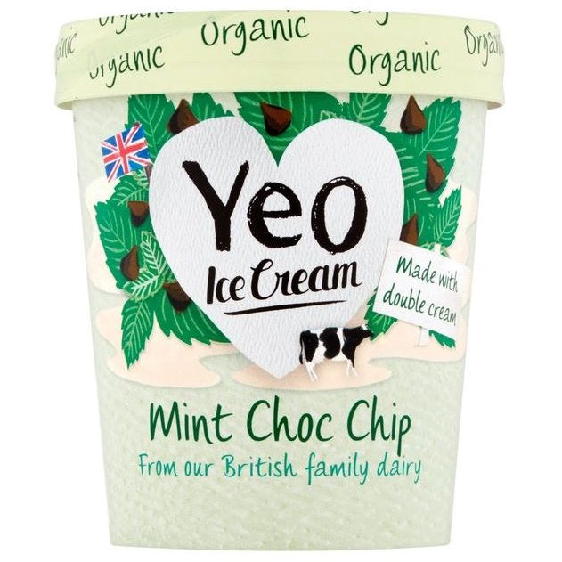YEO VALLEY ORGANIC MINT/CHOC ICE CREAM 500ml - DeGusta Grocery Home Delivery