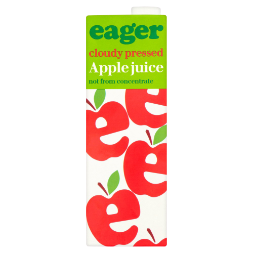 EAGER APPLE JUICE 1L (not from concentrate)