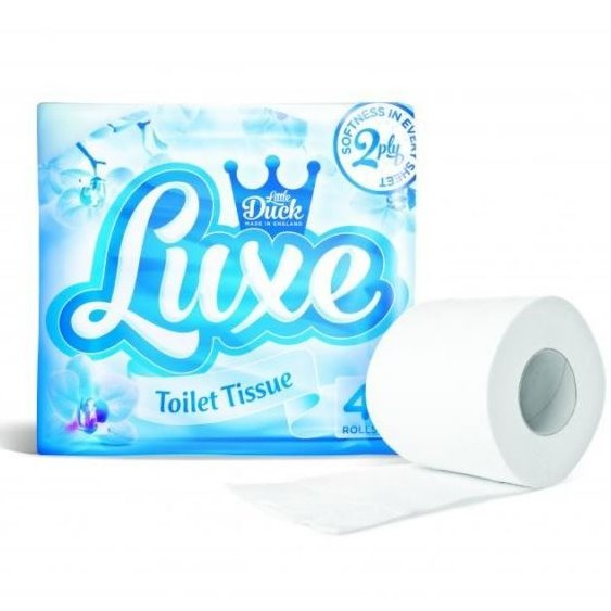WHITE 4 PACK TOILET ROLLS LUXE - DeGusta Grocery Home Delivery