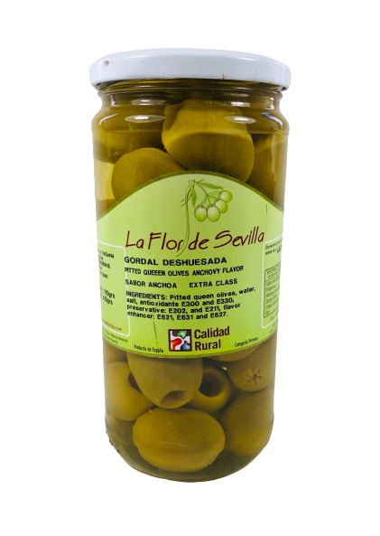 GORDAL QUEEN PITTED ANCHO/FLAV OLIVES 410GR