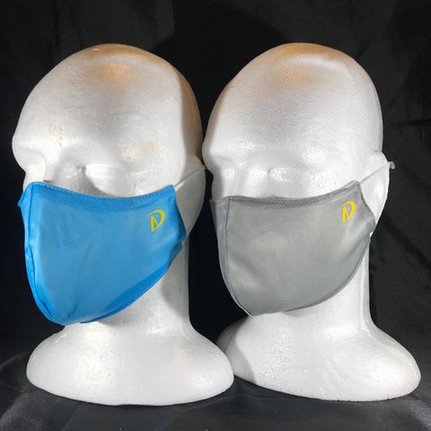Cloth Mask Anti-Bacterial (Water Resistant Material) - Aqua or Light Grey  -- IN STOCK