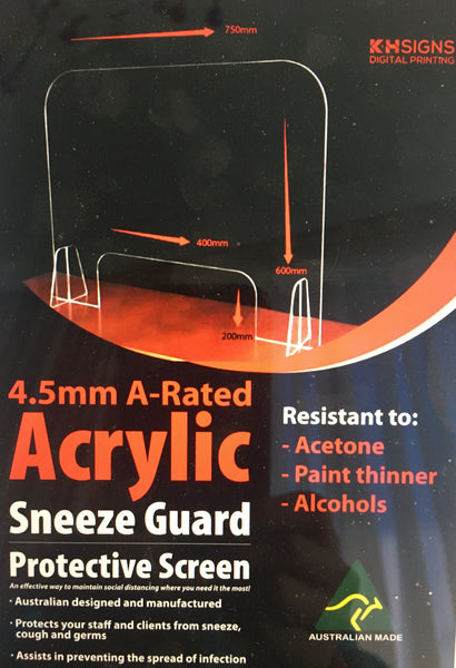 Sneeze Guard - Australian Made. $79inc gst - TGA approved