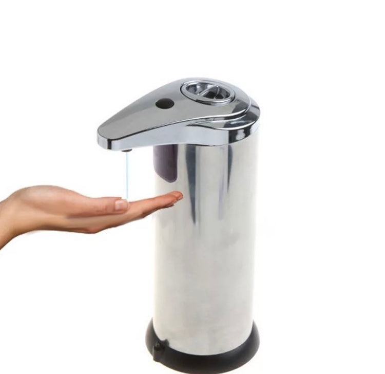 Silver -Touchless Hand Sanitiser Dispenser or Soap Dispenser (White or Stainless)