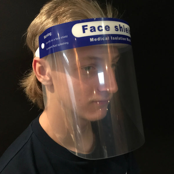 Full Face Clear Mask Visor with Adjustable Straps