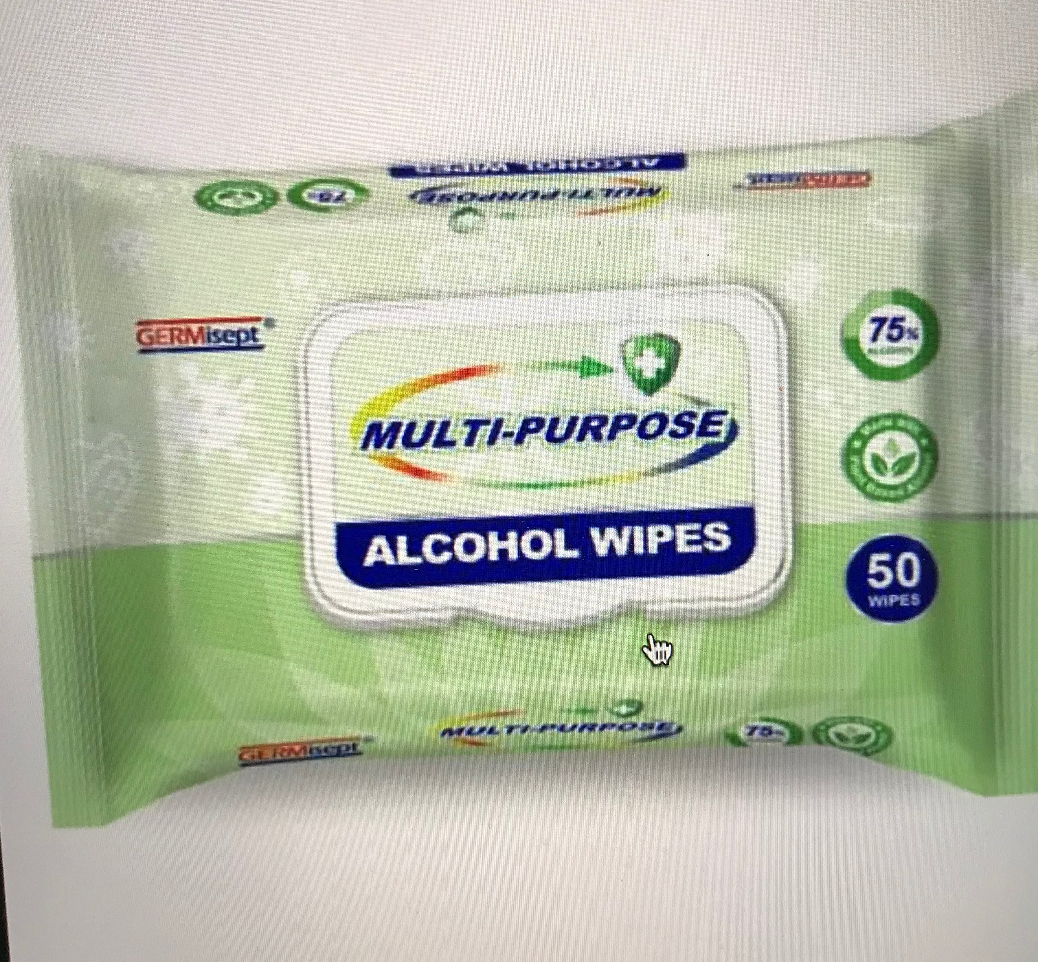 NEW Just In ALCOHOL Wipes - 75% Alcohol