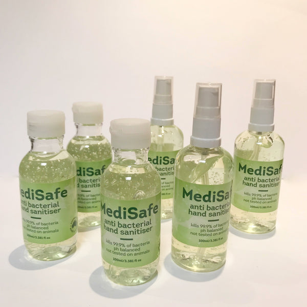 Medisafe 70% Alcohol Antibacterial Hand Sanitizer (Flip top or Spray)- AUSTRALIAN MADE