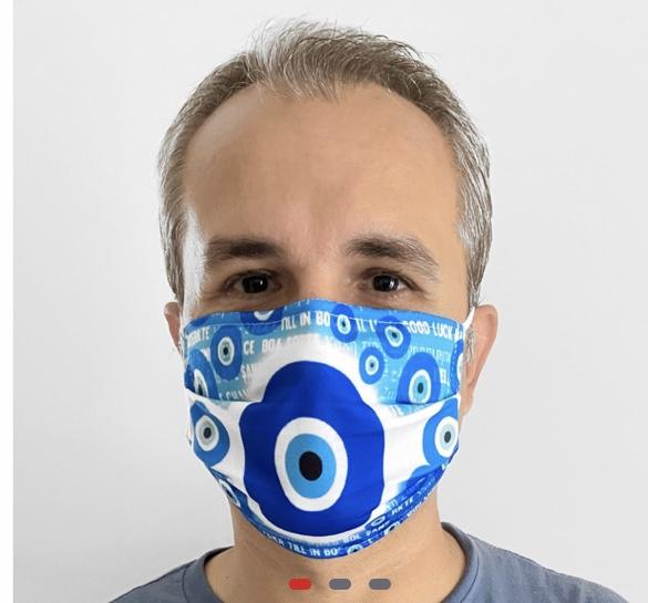 "Lockdown ""Evil Eye Design Face Mask"""