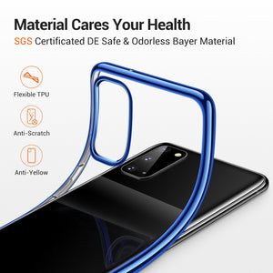TORRAS Crystal Clear for Samsung Galaxy S20 5G Case 6.2 Inch Ultra-Thin Slim Fit Soft TPU Cover Case - TORRAS