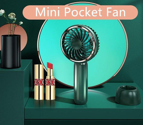 Handheld Fan Portable, Ultra-silence, Mini Hand Held Fan with USB Rechargeable Battery - TORRAS