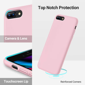 TORRAS Love Series iPhone 8 Plus/7 Plus, Liquid Silicone Gel Rubber Case Soft Microfiber Cloth - TORRAS