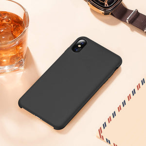 TORRAS Love Series iPhone Xs/iPhone X Case, Liquid Silicone Gel Shockproof Soft Microfiber Cloth - TORRAS