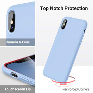 TORRAS Love Series iPhone Xs Max Case 6.5 inch, Liquid Silicone Gel Rubber Shockproof Case - TORRAS