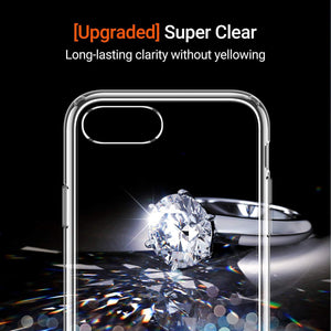 TORRAS Ultra Clear Case SE 2020/iPhone 8/iPhone 7, [Anti-Yellowing] Hard PC Back & Soft Bumper Case - TORRAS