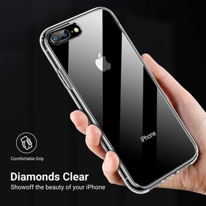 TORRAS Diamonds Clear iPhone 8/7 Plus Case, Anti-Yellowing[Fully Protective] Slim Fit Hard Plastic - TORRAS