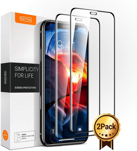 TORRAS Diamonds Hard iPhone 11 Pro/iPhone X/iPhone XS Screen Protector [Eye Protection]5.8''-2 Pack - TORRAS