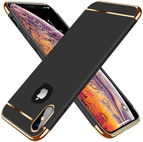 TORRAS Lock Series iPhone X/iPhone Xs 3-in-1 Luxury Anti-Scratch Hard with Electroplated Frame Case - TORRAS