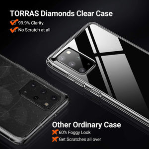 TORRAS Ultra Clear Galaxy S20 Plus Case Anti-Yellowing Fully Protective Hard Back with Soft Edges - TORRAS