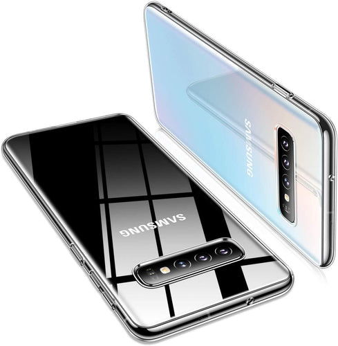 TORRAS Crystal Clear Galaxy S10 Plus case 6.4 inch, Ultra Thin Slim Fit Flashy Edge Soft TPU Case - TORRAS