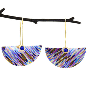 Extra-Large Niobium Half-Round Earrings
