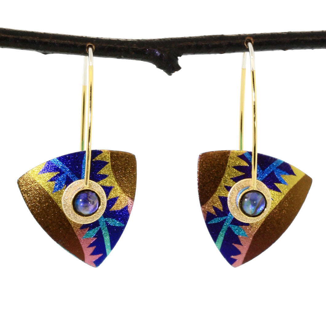 Small Triangle Kinetic Earrings