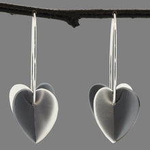 Load image into Gallery viewer, Large Double Heart Earrings