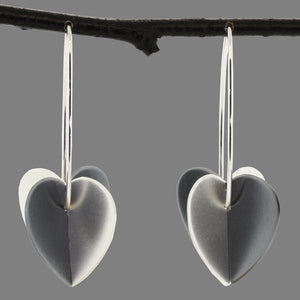 Large Double Heart Earrings