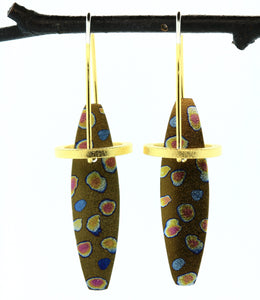 Halo Earrings-Silver, Vermeil, Niobium, Hiirodo Copper