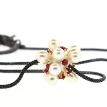 Load image into Gallery viewer, Ruby and Pearl Thistle Necklace