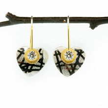 Load image into Gallery viewer, Tiny Heart Earrings--Donation to Domestic Violence Services