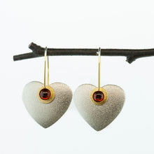 Load image into Gallery viewer, Small Heart Earrings-Donation to Domestic Violence Services
