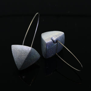 Large Eco-Friendly Pyramid Earrings