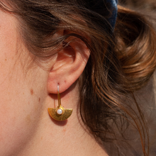Load image into Gallery viewer, Tiny Half-Round Earrings