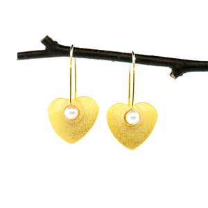 Tiny Heart Earrings--Donation to Domestic Violence Services