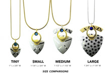 Load image into Gallery viewer, Large Triangle Necklaces-Silver and Gold-plated